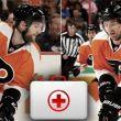 Los Flyers pierden a Coburn y MacDonald por cuatro semanas