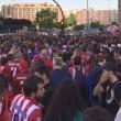 Más de 3.000 aficionados se concentran para apoyar al Atlético