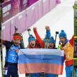 Rusia se lleva el último oro en biatlón