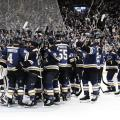 Los St. Louis Blues celebrando el pase a la final | Foto: St. Louis Blues