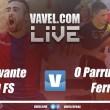 Partido Levante vs O Parrulo en vivo y en directo online en LNFS 2017