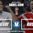 Previa Uruguay - Rusia: batalla por el liderazgo