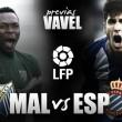 Previa Málaga CF - RCD Espanyol: objetivo común, ilusión diferente