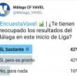 La situación del Málaga preocupa a sus aficionados