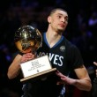 Karl-Anthony Towns, Klay Thompson, Zach LaVine Take Home Trophies In NBA All-Star Saturday Night