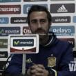 Jorge Vilda analiza a su equipo antes de su enfrentamiento ante Noruega en el Europeo sub-19