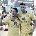 David Rodríguez y Máyor celebrando un gol frente al Elche. Foto: LaLiga1 2 3