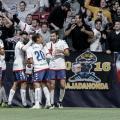 Jugadores del Rayo Majadahonda celebrando un gol | Fotografía: La Liga