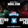 Deportivo Cali vs Pasto: 'Los azucareros' buscan seguir por el camino de la gloria
