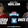 Previa Rionegro Águilas vs Once Caldas: el 'blanco' en busca de la resurrección