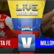 Independiente Santa Fe vs Millonarios en vivo online en final Liga Águila 2017 (0-0)