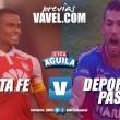 Previa Santa Fe vs Deportivo Pasto: 'Leones' y 'Tricolores' deben despertar
