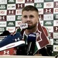 """Caio Henrique é apresentado e traça metas no Fluminense: """"Temos que brigar por títulos"""""""