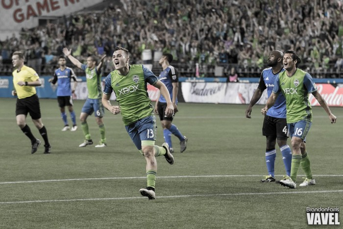 Dempsey and Morris power Seattle Sounders past unfortunate San Jose Earthquakes in 2-0 win
