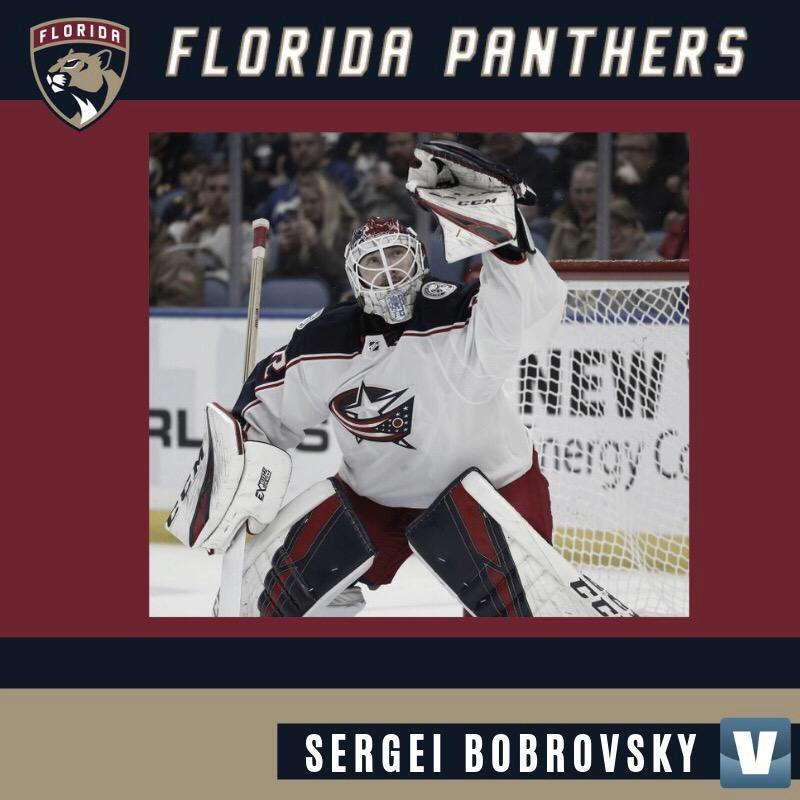 Bobrovsky, Connolly, Acciari y Stralman fichan por Florida Panthers