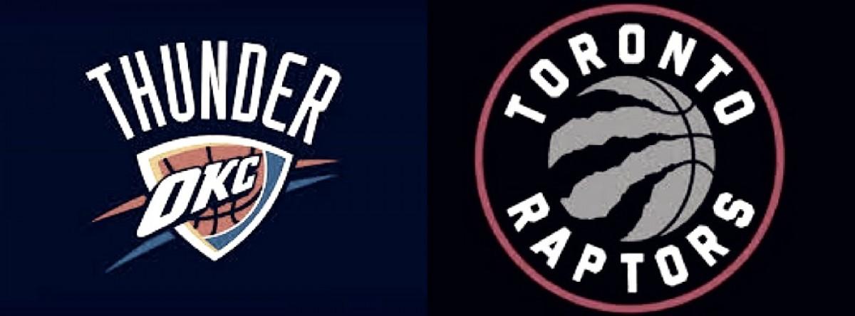 Thunder ganó en prórroga y los Raptors subyagaron a su rival