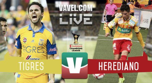 Resultado Tigres - Herediano en Concachampions 2015 (0-0)