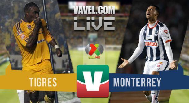 Resultado Tigres - Monterrey en Clausura 2015 (3-0)