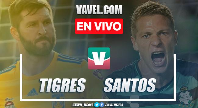 Goles y resumen Tigres 4-0 Santos en Liga MX 2019