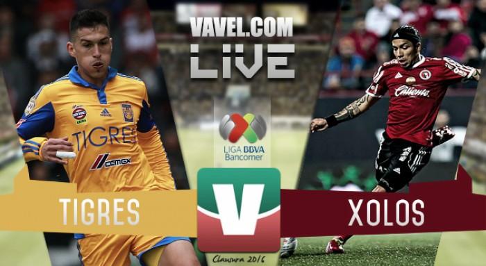 Tigres vs Xolos Tijuana en vivo online en Liga MX (0-0)