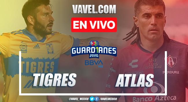 Resumen y goles del Tigres 1-1 Atlas en la Jornada 17 del Guad1anes 2020