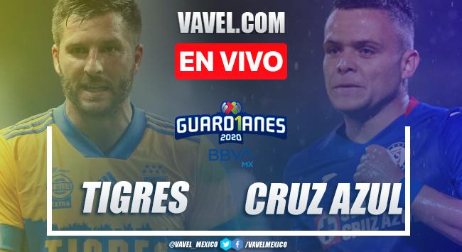 Tigres vs Cruz Azul en vivo cómo ver transmisión TV online en Liguilla Liga MX 2020 (0-0)