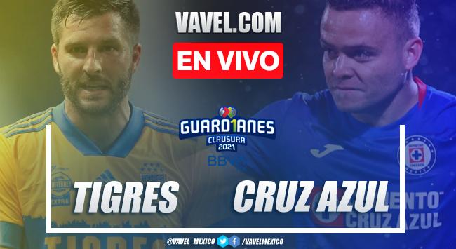 Resumen y goles del Tigres 0-2 Cruz Azul en Liga MX 2021