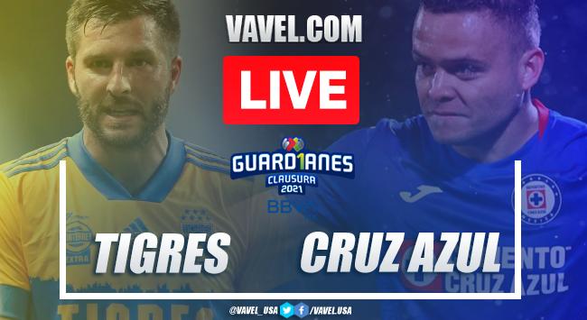 Goals and Highlights: Tigres 0-2 Cruz Azul, 2021 Liga MX