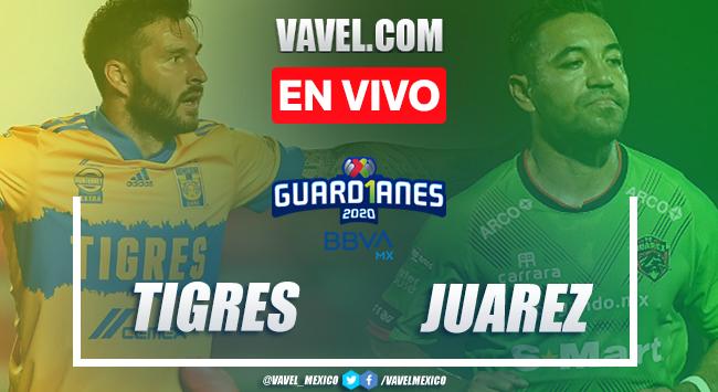 Resumen y goles del Tigres 1-1 Juárez en la jornada 15 del Guard1anes 2020