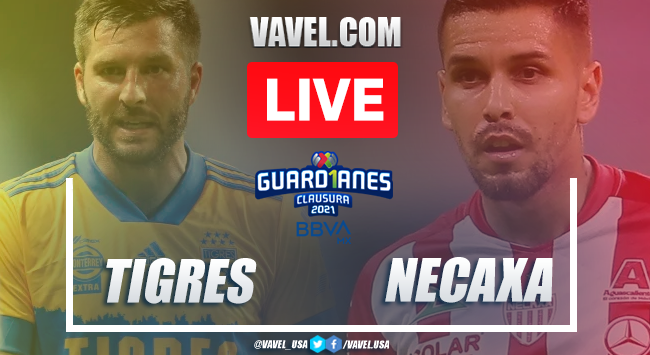 Goals and Highlights of Tigres 1-1 Necaxa on Guard1anes 2020