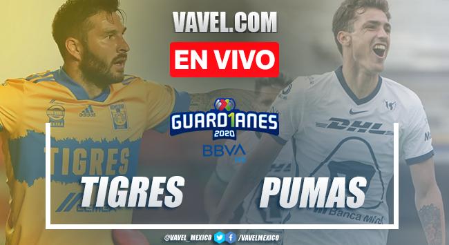 Resumen y goles del Tigres 1-1 Pumas, jornada 6 del Guard1anes 2020