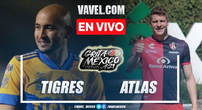 Goles y resumen del Tigres UANL 1-1 Atlas en Liga MX