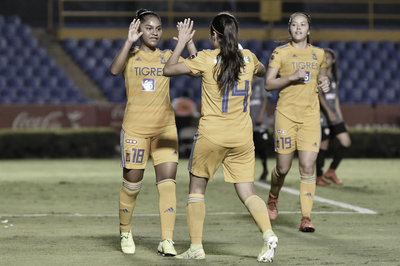 Tigres logra tercera victoria en fila tras golear a las Centellas