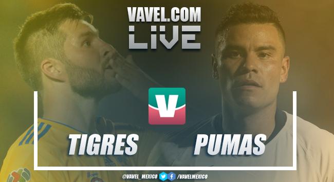 Resumen y goles del Tigres 2-1 Pumas en cuartos de final de ida del Apertura 2018