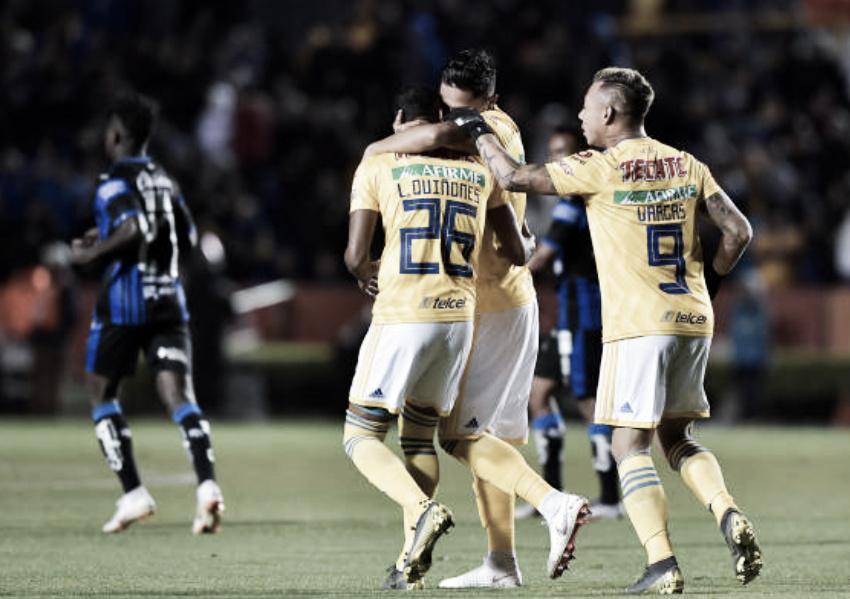 Sin muchos apuros, Tigres golea a Querétaro