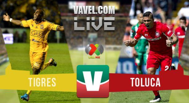 Resultado Tigres - Toluca en Liga MX Apertura 2015 (0-1)