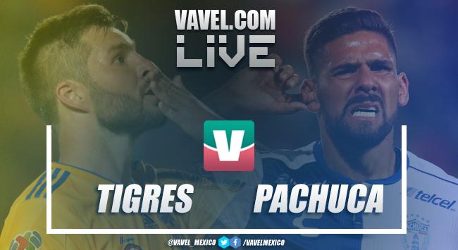 Minuto a minuto de Tigres vs Pachuca Liga MX c - 2019 (3-0)