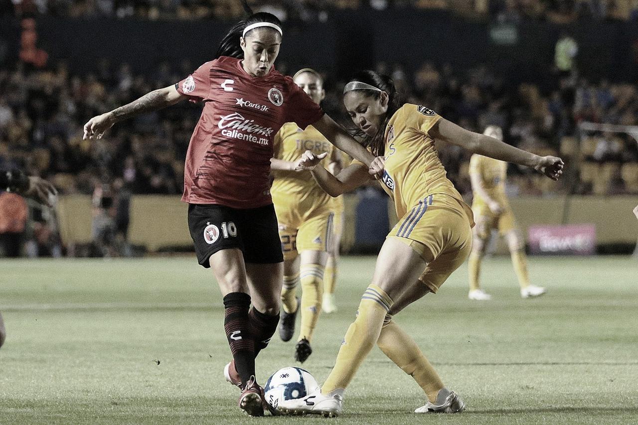 "Tigres golea a Tijuana y se mete a ""semis"" de la Liga MX Femenil"