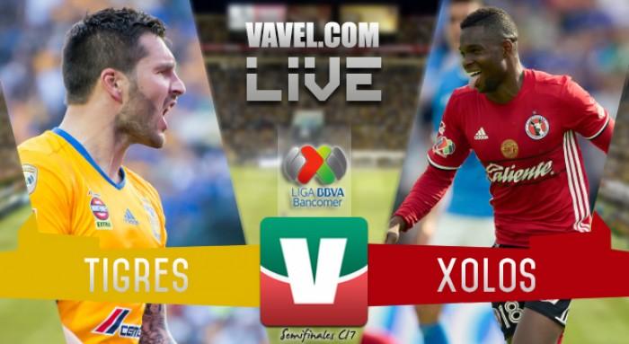 Resultado y goles del Tigres 2-0 Xolos en la Liga MX 2017