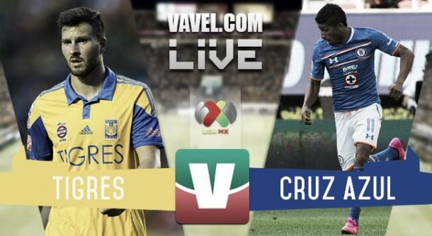 Resultado Tigres - Cruz Azul en Liga MX 2015 (0-0)