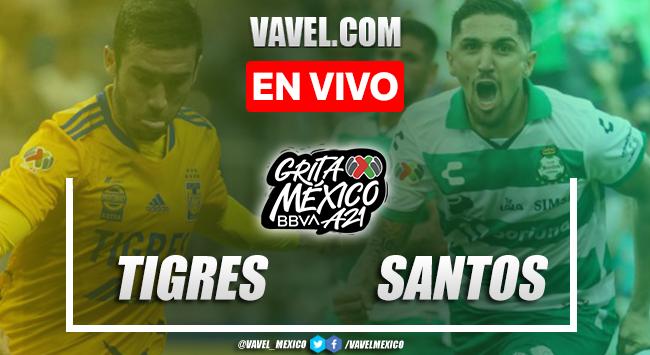 Goles y resumen del Tigres 1-1 Santos Laguna en Liga MX 2021