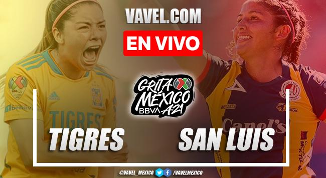 Goles y resumen del Tigres femenil 5-1 Atlético San Luis femenil en Liga MX Femenil