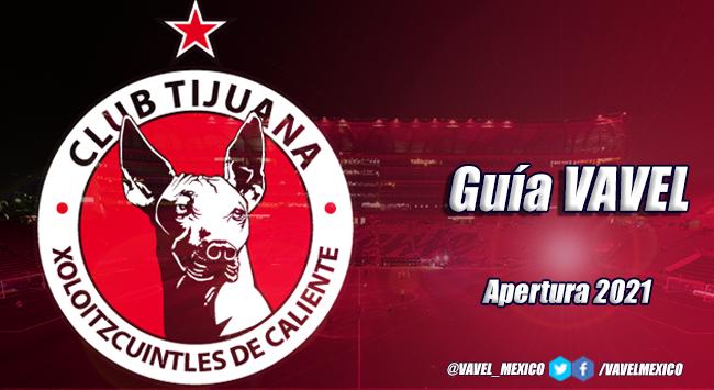 Guía VAVEL Apertura 2021: Xolos de Tijuana
