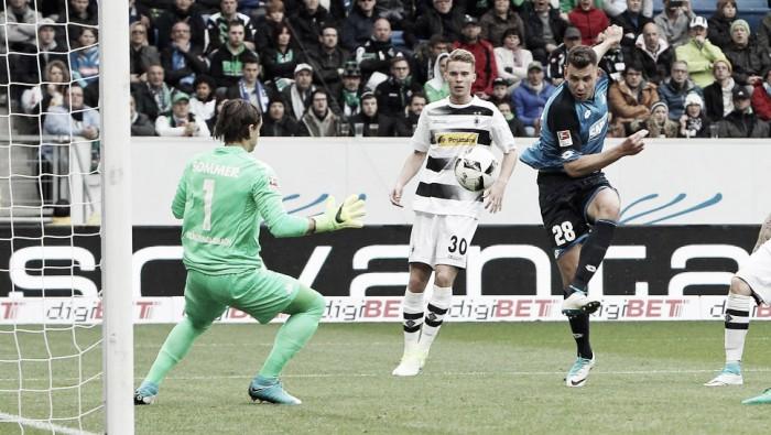 Em jogo de oito gols, Hoffenheim bate Mönchengladbach e fica próximo de vaga na Champions