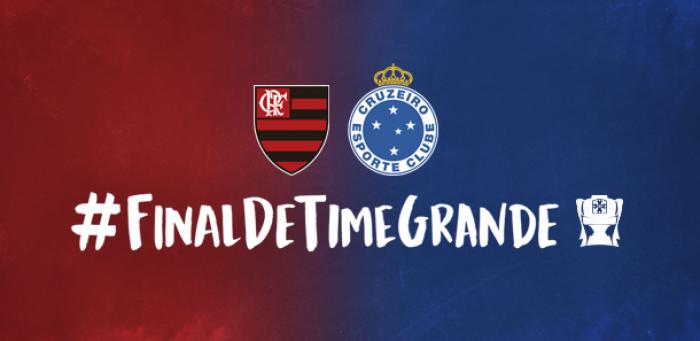#FinalDeTimeGrande: Cruzeiro e Flamengo se unem em redes sociais