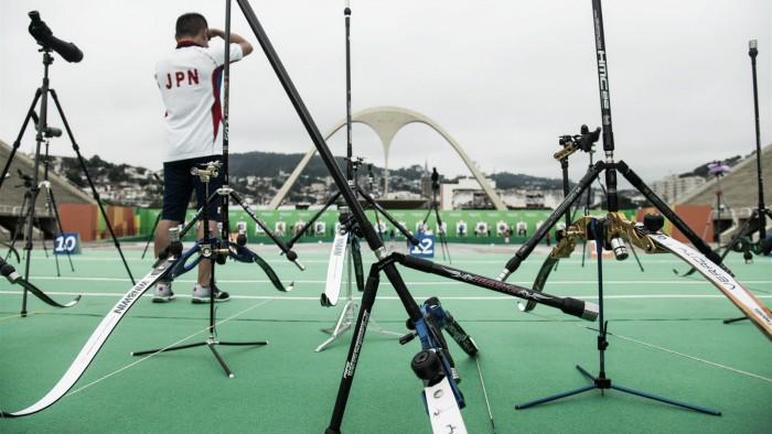 Brasil é eliminado na competição de tiro com arco por equipes masculino