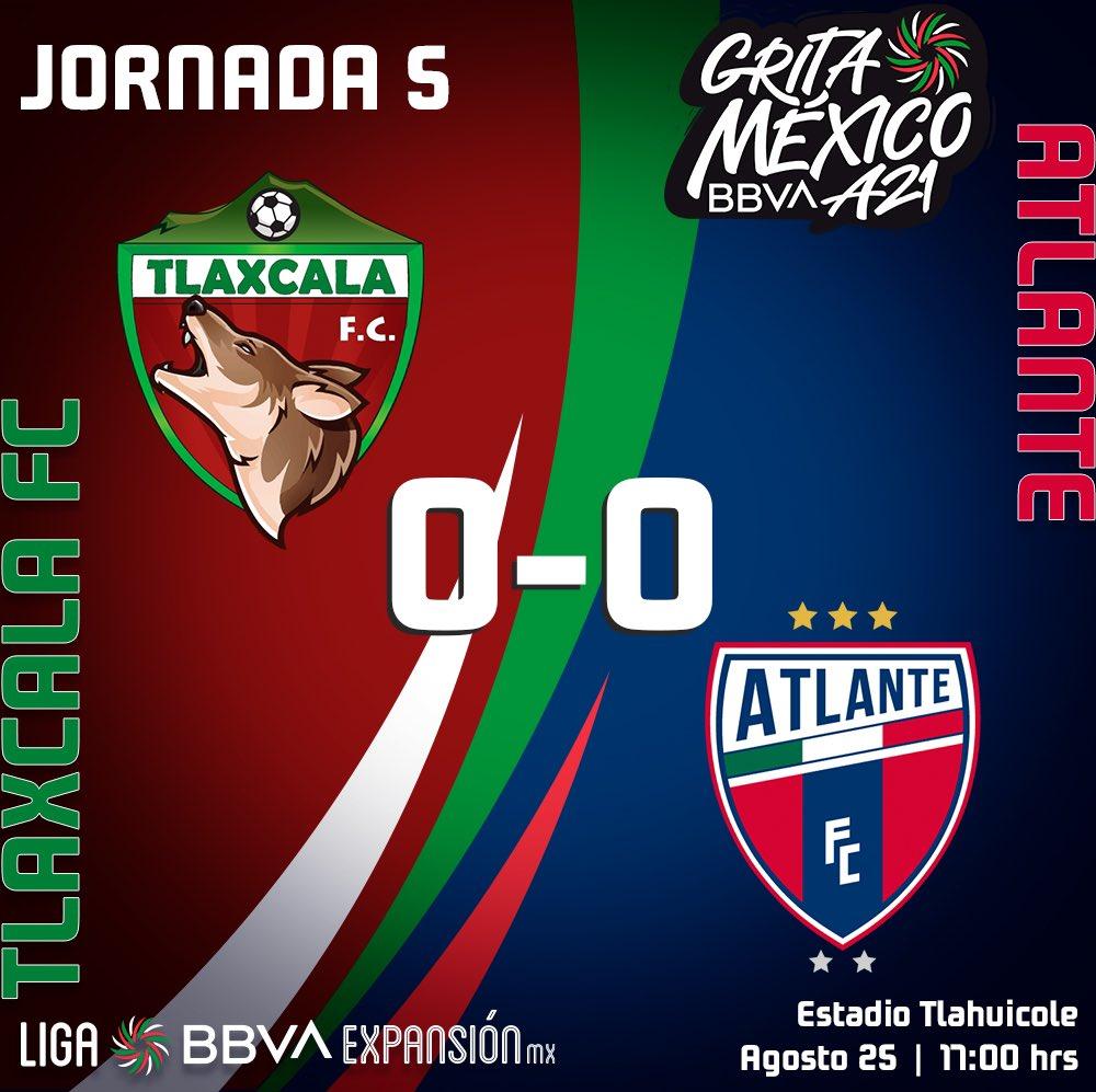 Tlaxcala y Atlante se guardan los goles en el Tlahuicole