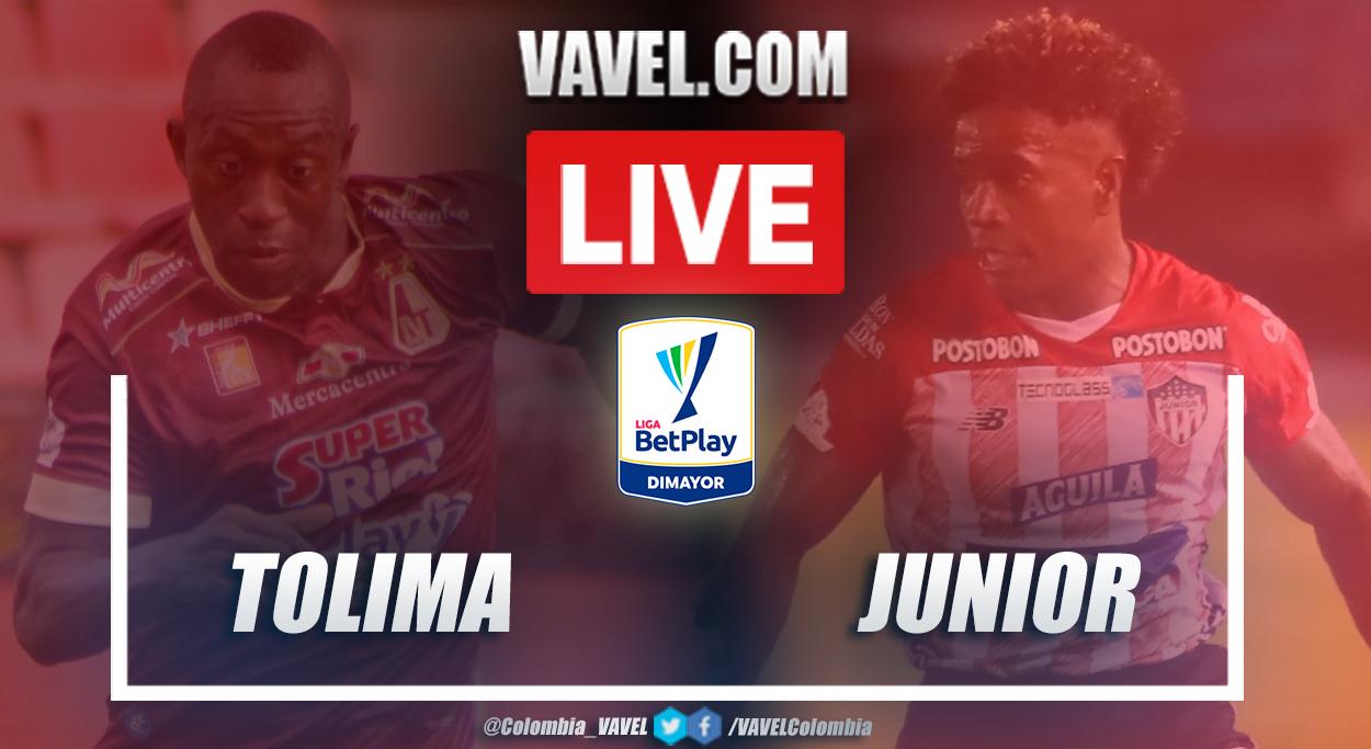 Resumen Tolima vs Junior (0-1) en la fecha 14 por Liga BetPlay 2021-I