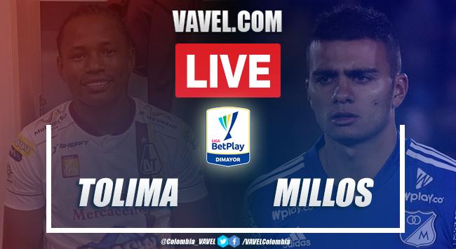 Resumen y goles Deportes Tolima vs Millonarios (2-2)