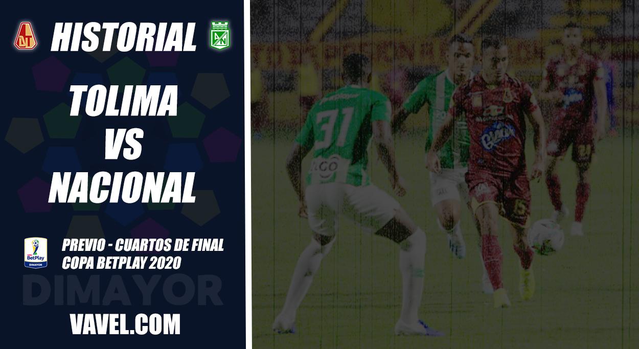 Historial entre Atlético Nacional y Deportes Tolima en Copa Colombia